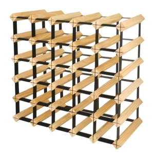 30 bottle galvanized pine wine rack